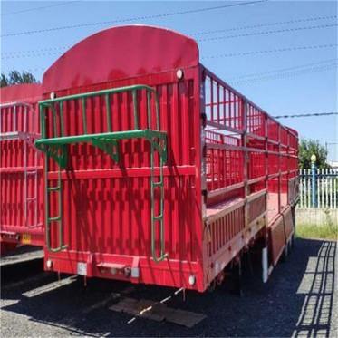 低平板运输半挂车 13米侧翻自卸半挂车 勾机板半挂车锰钢加工车