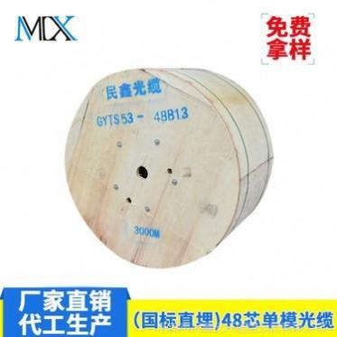 国标室外重铠48芯地埋光缆 96芯144芯直埋式光纤线GYTA53-48B1.3